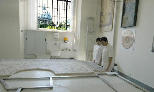 IL RESTAURO DEL MOSAICO NEL LABORATORIO DEI MUSEI VATICANI